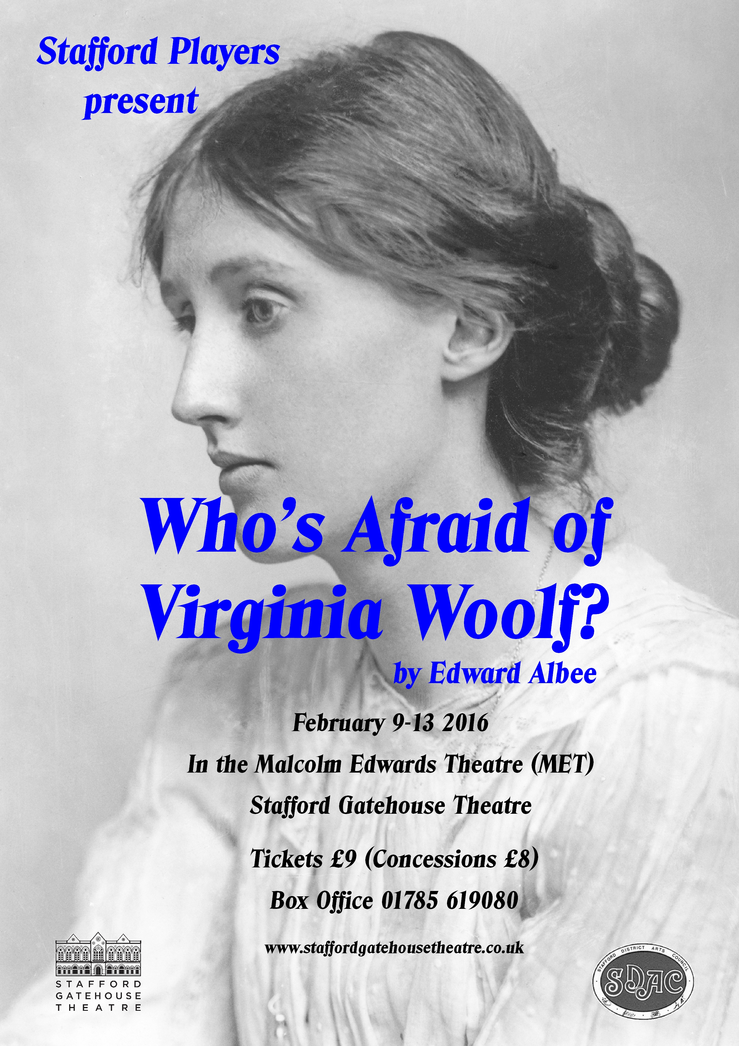 whos afraid of virginia woolf essays Get access to case study of virginia woolf essays only from anti essays listed results 1 - 30 get studying today and get the grades you want only at my account search my account help  the production of whos afraid of virginia woolf, couples and families were pictured  or fears while the study of science or in this case for nick.